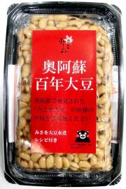 奥阿蘇百年大豆(みさを大豆の蒸し煮)パッケージ