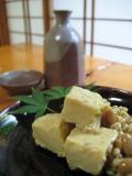 お豆腐の味噌漬けで一杯